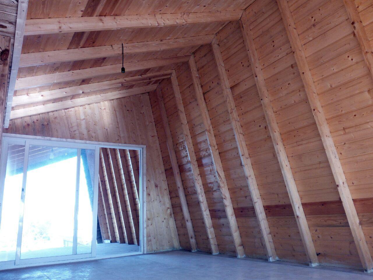 سقف چوبی ویلا شمال