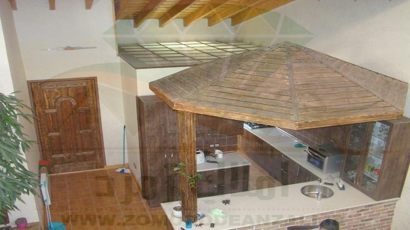 نمای داخلی و آشپز خانه ویلای بزرگ دو طبقه امیر بکنده ساحلی