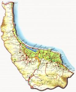 نقشه شهرهای استان گیلان