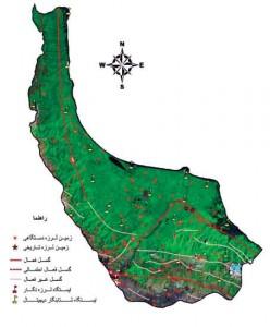 نقشه لرزه نگاری استان گیلان